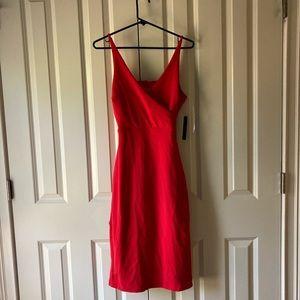 Lulus Red Midi Dress S NWT